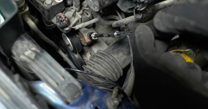 Steg-för-steg-rekommendationer för att byta Toyota Prius 2 2003 1.5 (NHW2_) Multirem på egen hand