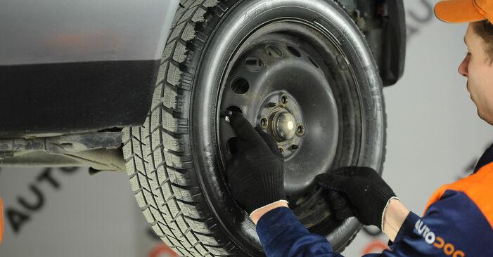 Fiat Punto 188 1.2 16V 80 2001 Ganasce Freno sostituzione: manuali dell'autofficina