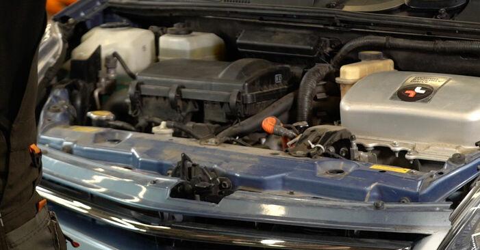 Hur byta Fjädrar på Toyota Prius 2 2003 – gratis PDF- och videomanualer
