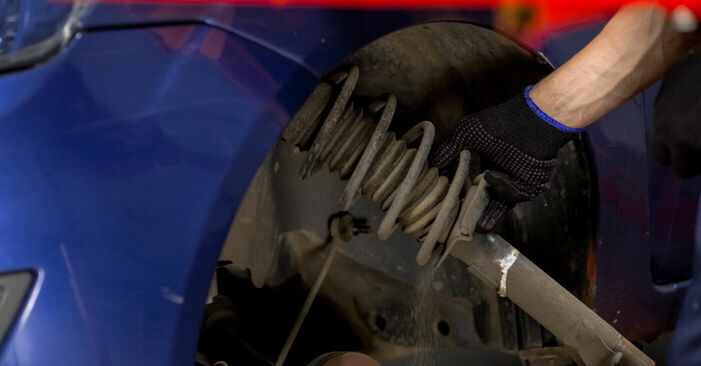 How to change Strut Mount on Ford Fiesta V jh jd 2001 - free PDF and video manuals