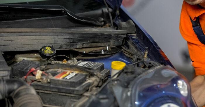 Wie Domlager Ford Fiesta V jh jd 1.4 TDCi 2001 tauschen - Kostenlose PDF- und Videoanleitungen
