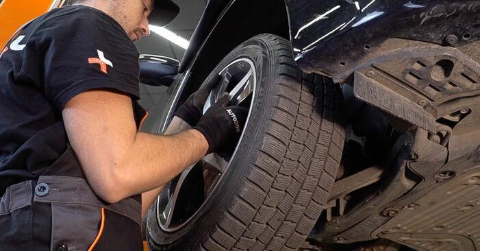 Πώς να αλλάξετε Βάση Αμορτισέρ σε Honda Accord VIII CU 2008 - δωρεάν εγχειρίδια PDF και βίντεο οδηγιών