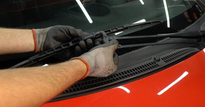 How to replace PEUGEOT 107 1.0 2006 Wiper Blades - step-by-step manuals and video guides