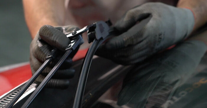 Changing Wiper Blades on PEUGEOT 107 1.4 HDi 2008 by yourself