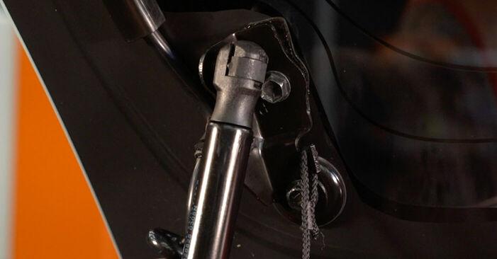 Wie schwer ist es, selbst zu reparieren: Heckklappendämpfer PEUGEOT 107 1.0 2011 Tausch - Downloaden Sie sich illustrierte Anleitungen