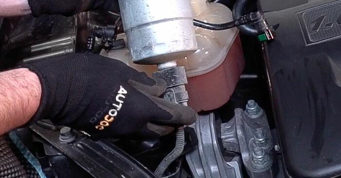 Cik grūti ir veikt Degvielas filtrs nomaiņu FIAT BRAVO II (198) 1.9 D Multijet 2012 - lejupielādējiet ilustrētu ceļvedi