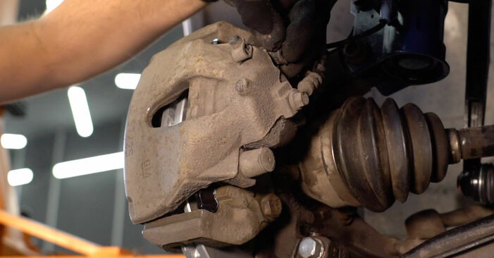Changing Brake Pads on OPEL ZAFIRA B (A05) 1.6 (M75) 2008 by yourself