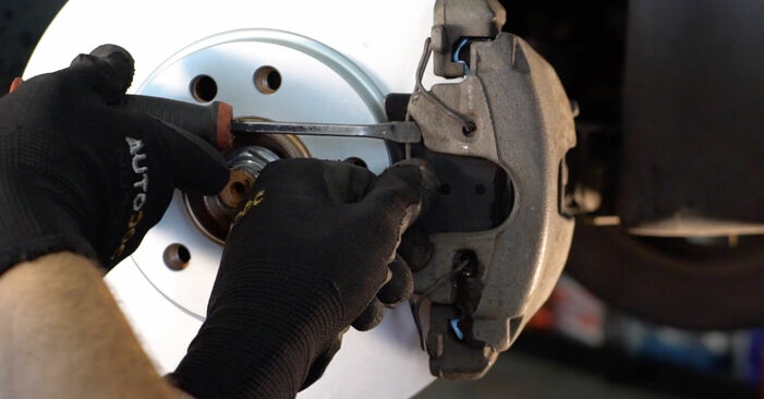 How to remove OPEL ZAFIRA 1.6 CNG (M75) 2009 Brake Pads - online easy-to-follow instructions