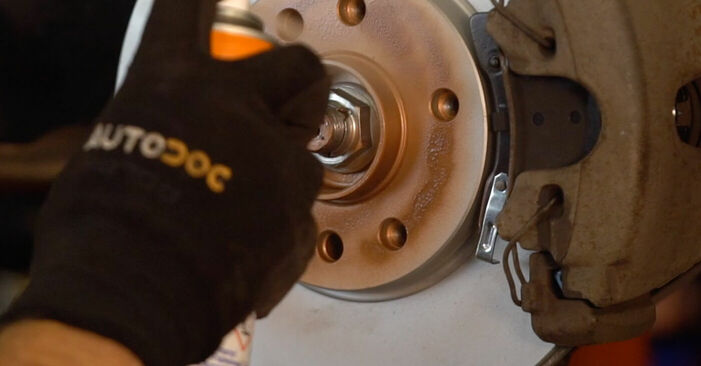 How to replace Brake Pads on OPEL ZAFIRA B (A05) 2010: download PDF manuals and video instructions