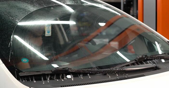 Kako odstraniti TOYOTA AURIS 1.4 (ZZE150_) 2010 Metlica brisalnika stekel - spletna, enostavna za sledenje, navodila