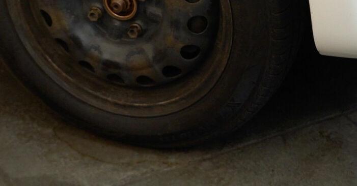 Bremsscheiben CITROËN C1 (PM_, PN_) 1.0 2007 wechseln: Kostenlose Reparaturhandbücher