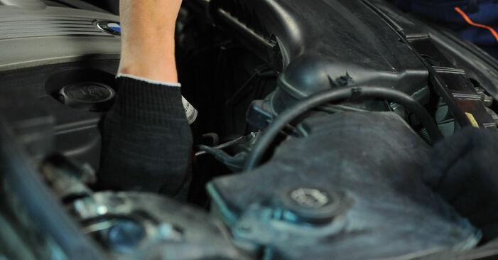 Wie Luftfilter BMW X3 (E83) 3.0 d 2004 austauschen - Schrittweise Handbücher und Videoanleitungen