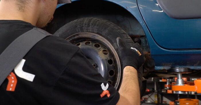Comment changer Amortisseurs sur Renault Kangoo kc01 1997 - Manuels PDF et vidéo gratuits