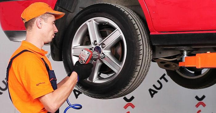 Wie schwer ist es, selbst zu reparieren: Bremsbeläge Ford Mondeo bwy ST220 3.0 2006 Tausch - Downloaden Sie sich illustrierte Anleitungen