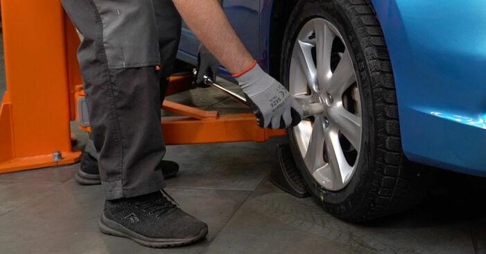 Bremsbeläge Honda Insight ZE2/ZE3 1.3 Hybrid (ZE28, ZE2) 2011 wechseln: Kostenlose Reparaturhandbücher