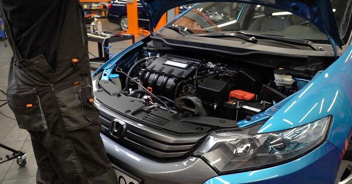 Wie Bremsscheiben Honda Insight ZE2/ZE3 1.3 Hybrid (ZE28, ZE2) 2009 tauschen - Kostenlose PDF- und Videoanleitungen