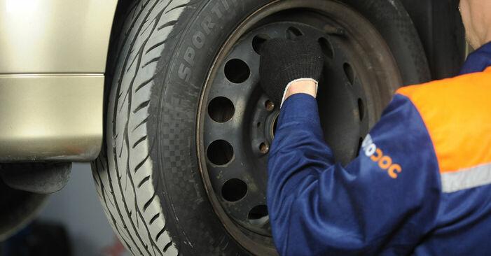 Wie BMW 3 SERIES 325i 2.5 2005 Bremsbeläge ausbauen - Einfach zu verstehende Anleitungen online