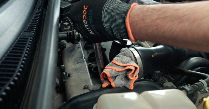 Austauschen Anleitung Zündkerzen am Ford Fiesta V jh jd 2001 1.4 TDCi selbst