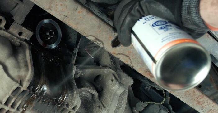 Austauschen Anleitung Ölfilter am Ford Fiesta V jh jd 2001 1.4 TDCi selbst