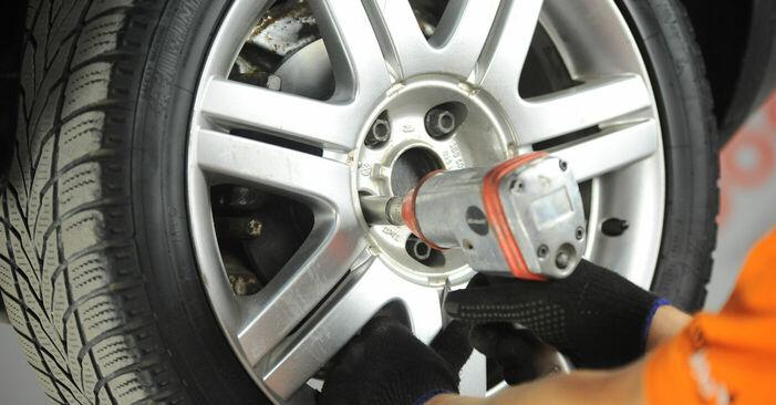 Byt Bromsbelägg på VW Golf V Hatchback (1K1) 1.6 FSI 2000 själv