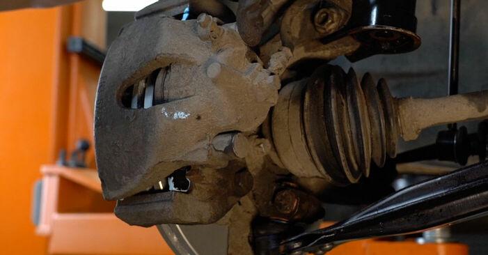 Byt Bromsbelägg på OPEL Zafira A (T98) 1.6 16V (F75) 2002 själv