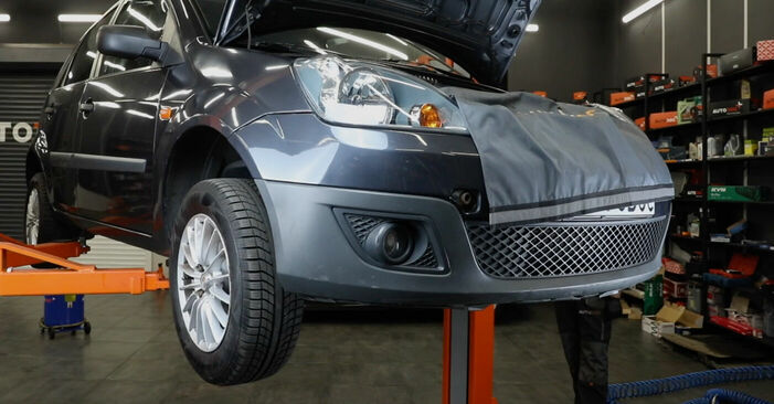 How to replace FORD Fiesta Mk5 Hatchback (JH1, JD1, JH3, JD3) 1.4 TDCi 2002 Poly V-Belt - step-by-step manuals and video guides