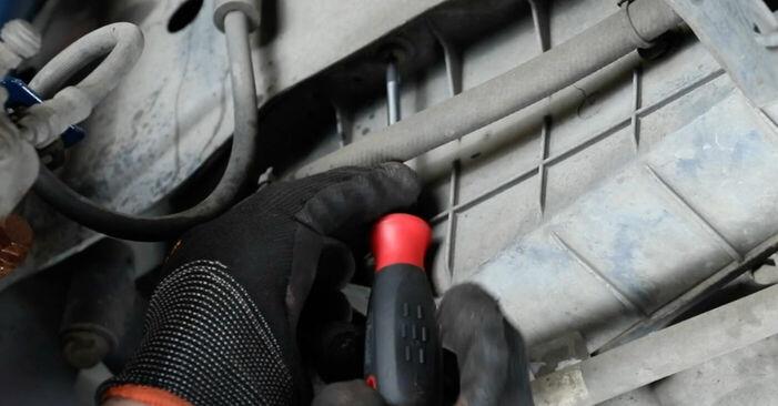 Ford Fiesta V jh jd 1.4 16V 2003 Poly V-Belt replacement: free workshop manuals