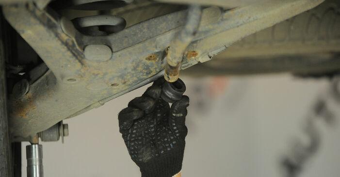 Wie schwer ist es, selbst zu reparieren: Stabigummis VW Sharan 1 2.8 V6 24V 2001 Tausch - Downloaden Sie sich illustrierte Anleitungen