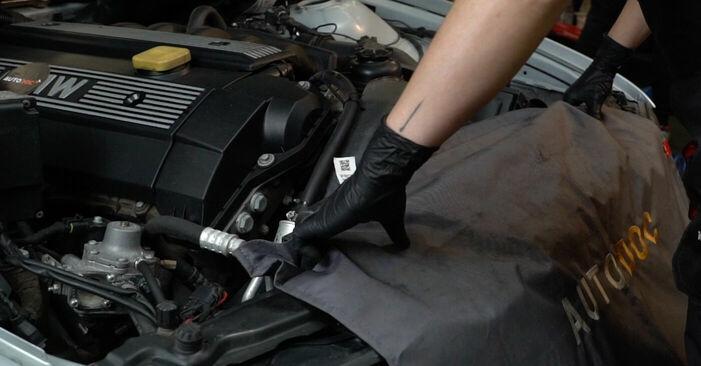 Wie Zündkerzen BMW 5 (E39) 530d 3.0 1991 austauschen - Schrittweise Handbücher und Videoanleitungen