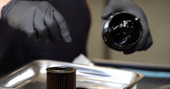 SKODA FABIA Combi (6Y5) 1.2 2003 Ölfilter selbst wechseln - Handbuch online