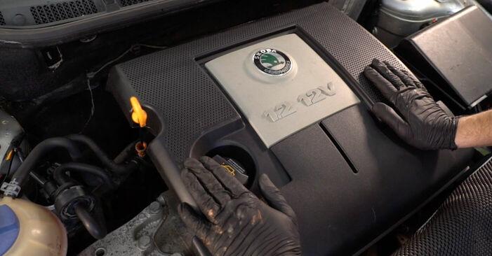 Stufenweiser Leitfaden zum Teilewechsel in Eigenregie von Skoda Fabia 6y5 2002 1.4 TDI Ölfilter