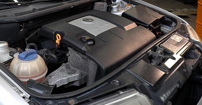 Wie Getriebeöl und Verteilergetriebeöl SKODA Fabia I Combi (6Y5) 1.9 TDI 2000 austauschen - Schrittweise Handbücher und Videoanleitungen