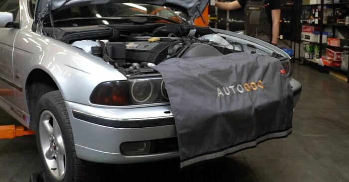 BMW E39 530d 3.0 1997 Kerékcsapágy cseréje: ingyenes szervizelési útmutatók