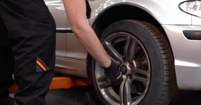 Kuinka vaihtaa BMW 3 Touring (E46) 320d 2.0 1999 -auton Kallistuksenvakaajan Puslat – vaiheittaiset ohjekirjat ja video-oppaat