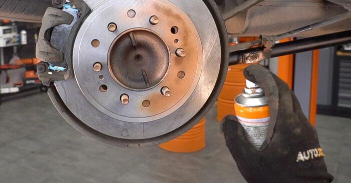 Changing Brake Pads on TOYOTA LAND CRUISER (KDJ12_, GRJ12_) 4.0 (GRJ12) 1998 by yourself