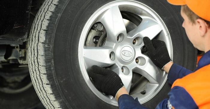 Bremsbeläge KIA Sorento jc 3.5 V6 2004 wechseln: Kostenlose Reparaturhandbücher