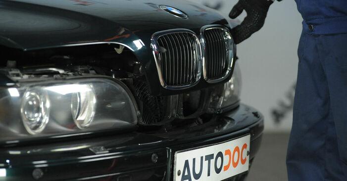 Cik ilgu laiku aizņem nomaiņa: BMW E39 2003 Bremžu diski - informatīva PDF rokasgrāmata