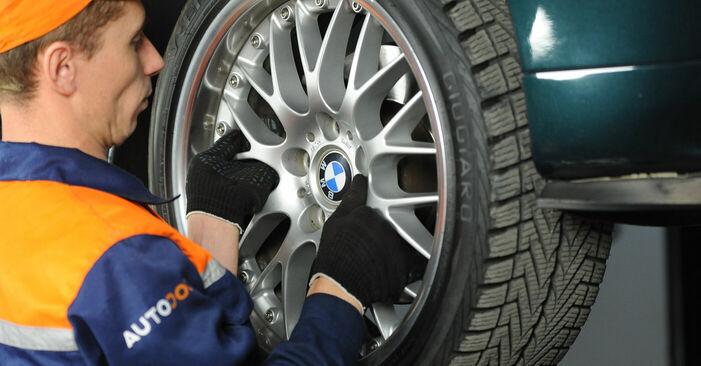 Wie schwer ist es, selbst zu reparieren: Bremssattel BMW E39 525i 2.5 2001 Tausch - Downloaden Sie sich illustrierte Anleitungen