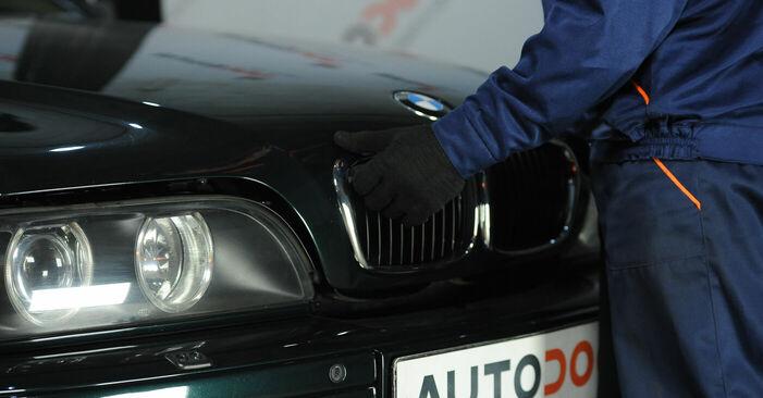 Wie man BMW 5 Limousine (E39) 523i 2.5 1996 Domlager austauscht - Schrittweise Handbücher und Videowegleitungen