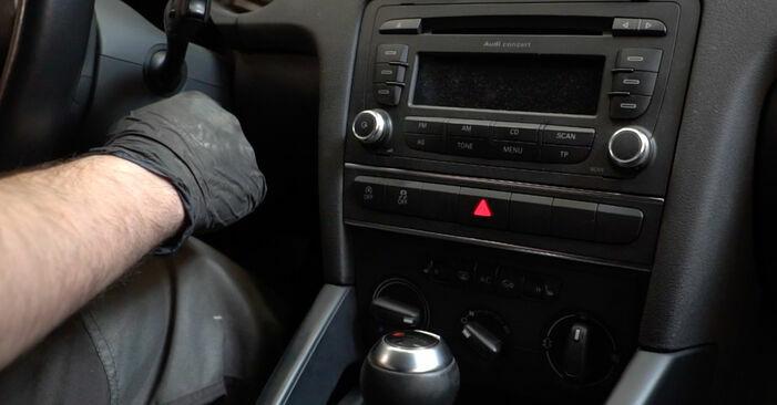 Austauschen Anleitung Innenraumfilter am Audi A3 8p1 2003 2.0 TDI 16V selbst