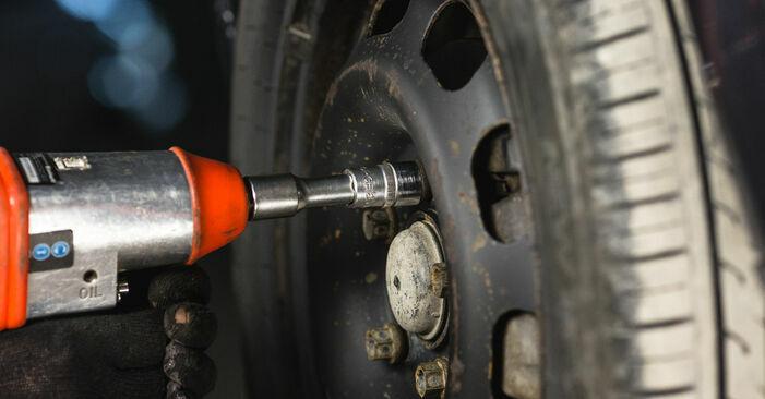 Wie MERCEDES-BENZ A-CLASS A 190 1.9 (168.032, 168.132) 2001 Bremsbeläge ausbauen - Einfach zu verstehende Anleitungen online