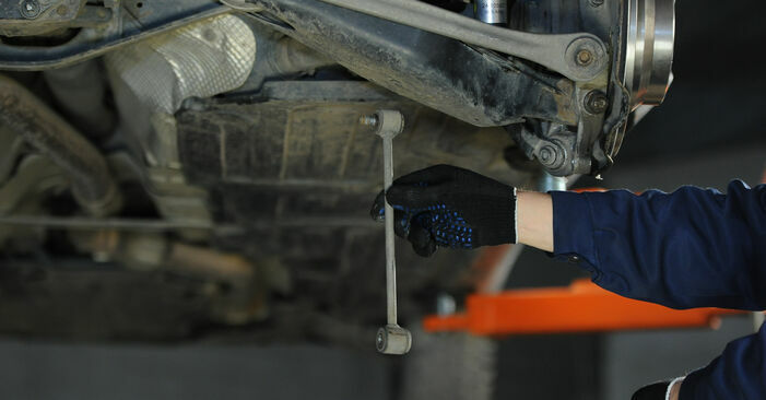 Changing of Anti Roll Bar Links on Mercedes W211 2002 won't be an issue if you follow this illustrated step-by-step guide