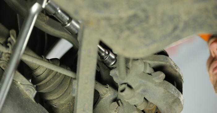 Wie Bremsscheiben MERCEDES-BENZ E-Klasse Limousine (W211) E 270 CDI 2.7 (211.016) 2003 austauschen - Schrittweise Handbücher und Videoanleitungen