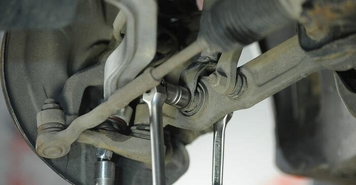 Byta Mercedes W211 E 270 CDI 2.7 (211.016) 2004 Fjäderbenslagring: gratis verkstadsmanualer