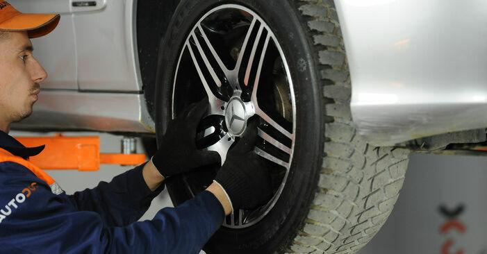 Så svårt är det att göra själv: Byt Fjäderbenslagring på Mercedes W211 E 320 CDI 3.0 (211.022) 2008 – ladda ned illustrerad guide