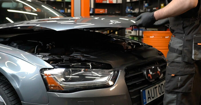 How to change Brake Pads on Audi A4 B8 Saloon 2007 - free PDF and video manuals