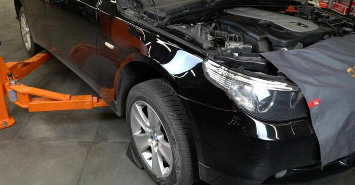 Wymiana BMW E60 525d 2.5 2003 Wahacz: darmowe instrukcje warsztatowe