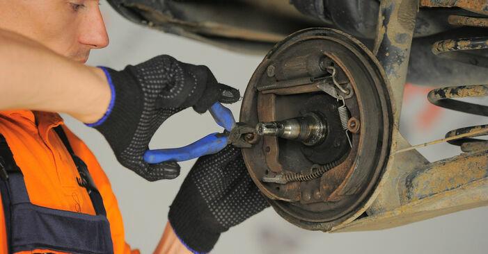 Corsa B Schrägheck (S93) 1.5 TD (F08, F68, M68) 1994 1.2 i 16V (F08, F68, M68) Bremsbacken - Handbuch zum Wechsel und der Reparatur eigenständig