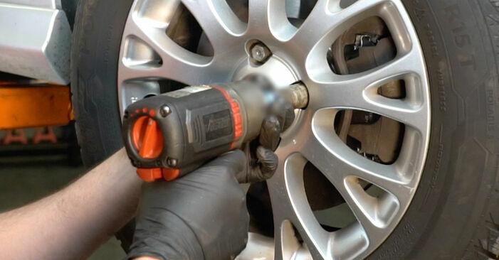 Fiat Punto 199 1.4 2010 Brake Discs replacement: free workshop manuals