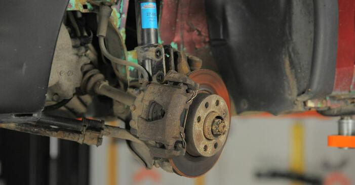 Wie schwer ist es, selbst zu reparieren: Domlager Opel Corsa S93 1.4 i 16V (F08, F68, M68) 1999 Tausch - Downloaden Sie sich illustrierte Anleitungen
